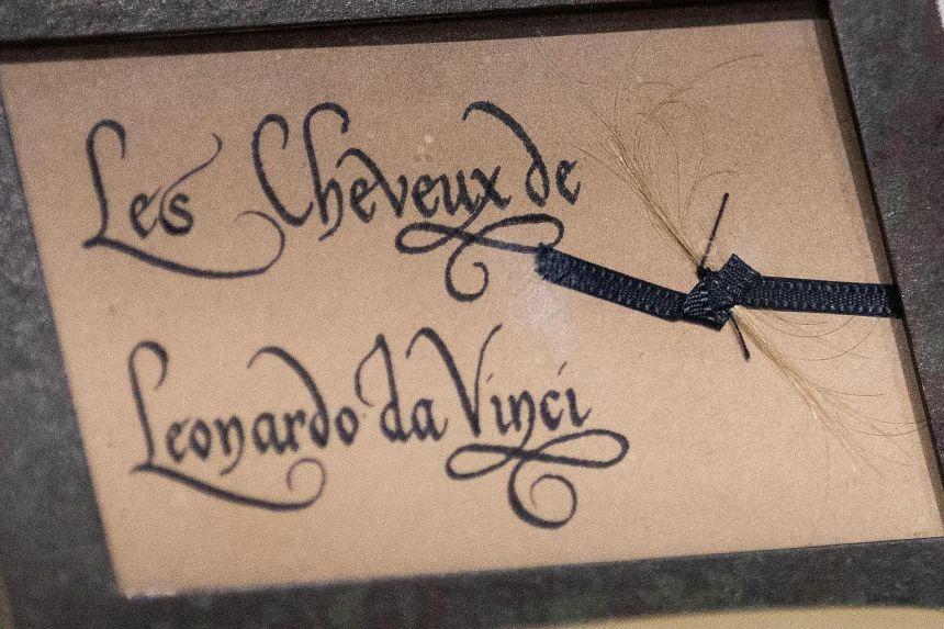 Hair that is believed to have belonged to Leonardo da Vinci. Credit: Leonardo da Vinci Museum