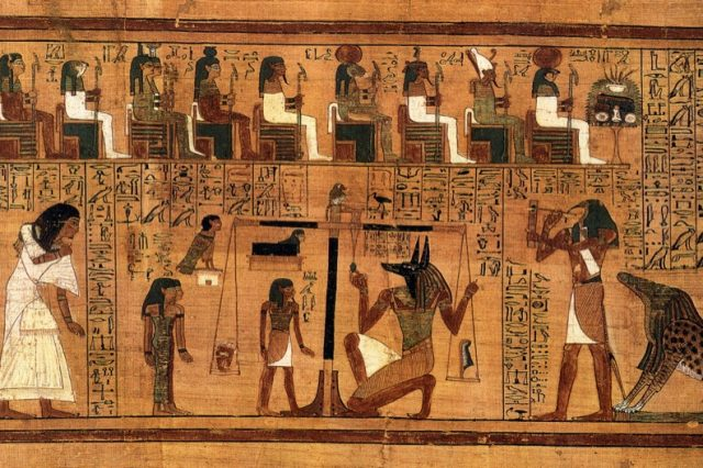 Fragment from the Book of the Dead. Credit: Wikimedia Commons