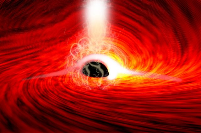 The extreme environment of a supermassive black hole as seen by the artist. Credit: ESA