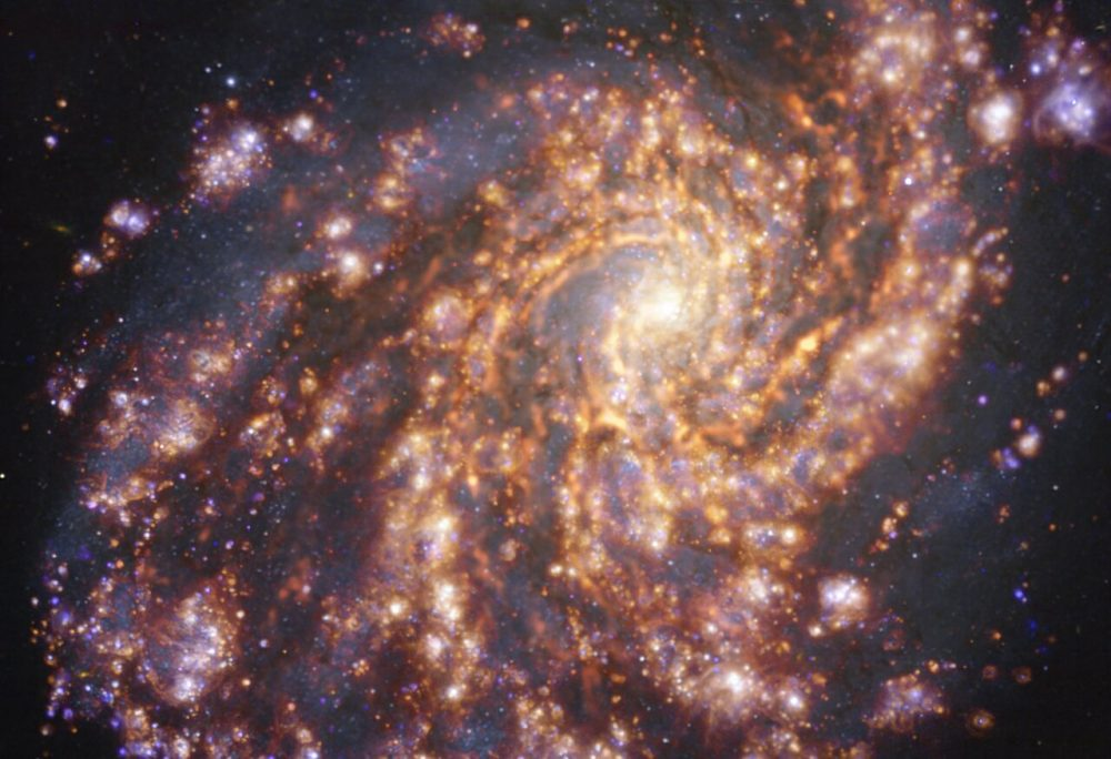 This image shows a spiral galaxy dubbed NGC 4254.