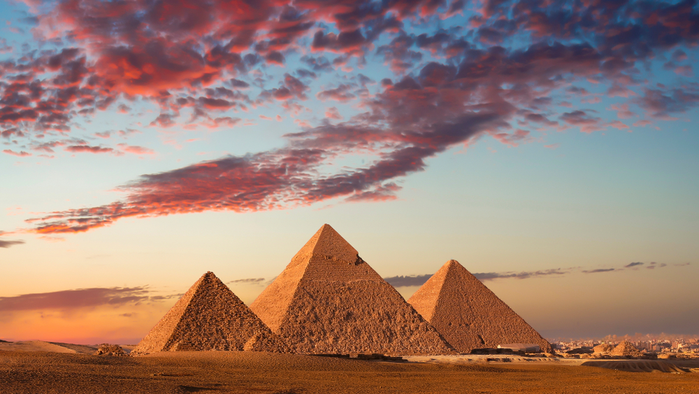 Are the pyramids the most famous monument in the world? Credit: Shutterstock