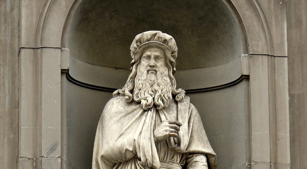 Leonardo da Vinci has 14 living descendants! Credit: Pixabay