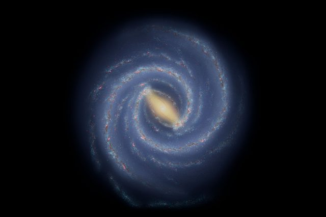 The current understanding of the large-scale structure of the Milky Way. Credit: NASA/JPL-Caltech