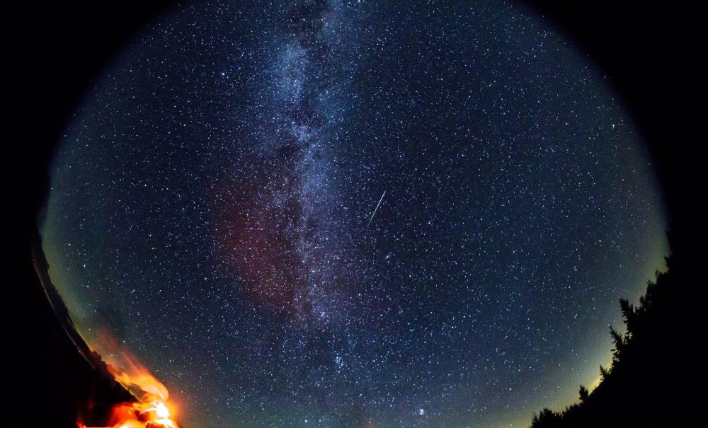 The Perseids captured in a 30-second exposure on August 12, 2016. Credit: NASA/Bill Ingalls
