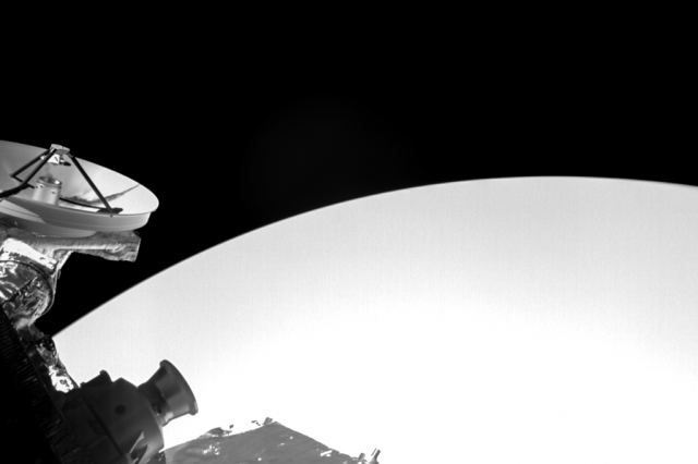 Cropped version of the first image from the double flyby past Venus. Credit: ESA