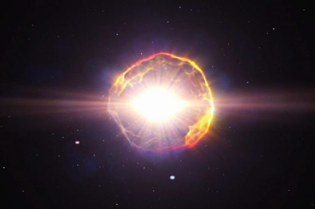 Astronomers discovered a new type of supernova remnant. Credit: NASA