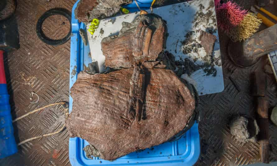 One of the fragments of a basket that was discovered underwater in Heracleion. Credit: Christoph Gerigk/Franck Goddio/Hilti Foundation