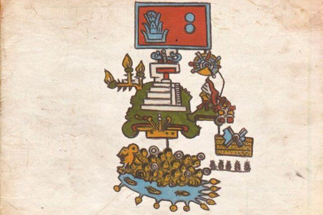 Aztec pictograms of an earthquake that occured in 1507. Credit: Gerardo Suárez and Virginia García-Acosta