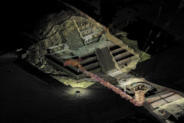 The tunnel under the Temple of the Feathered Serpent in Teotihuacan. Credit: Instituto Nacional de Antropologia e Historia