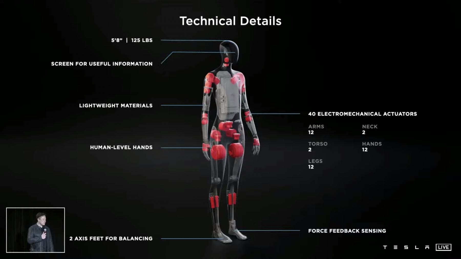 More details about Tesla's humanoid robot. Credit: CNET Youtube/Tesla