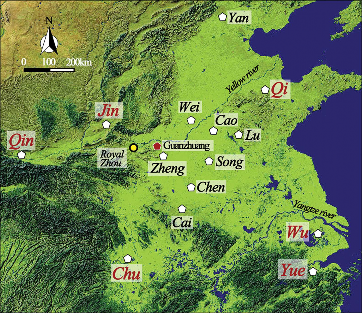 Location of the archaeological site. Credit: Hao Zhao et al. / Antiquity, 2021