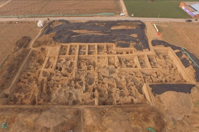 Aerial view of the ancient coin factory. Credit: Hao Zhao et al. / Antiquity, 2021