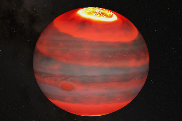 Scientists claim to have cracked the mystery of the heating of the upper atmosphere of Jupiter. Credit: J. O'Donoghue (JAXA)/Hubble/NASA/ESA/A. Simon/J. Schmidt
