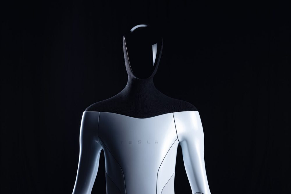 The head of the humanoid robot will be a screen that will show information. Credit: Tesla