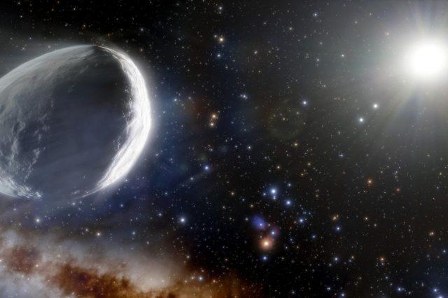 Artist's impression of comet Bernardinelli-Bernstein. Credit: J. da Silva / NOIRLab / NSF / AURA