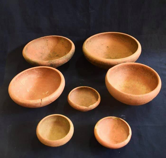 Ceramic bowls from the ancient Egyptian city of Buto. Credit: Ministry of Antiquities / Facebook