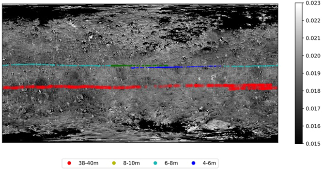 Distribution map of NIRS3 observation points over the Ryugu surface. Credit: Deborah Domingue et al. / The Planetary Science Journal, 2021