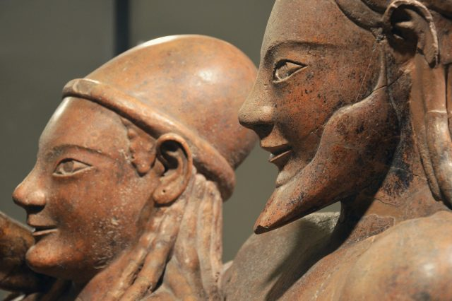 Part of the Etruscan Sarcophagus of the Spouses, one of the greatest pieces of art of the Etruscans. Credit: Carole Raddato / Flickr