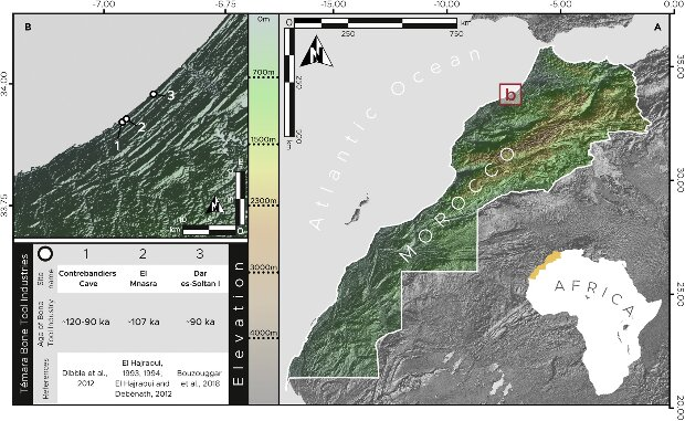 Location of the Contrebandiers Cave archaeological site. Credit: Emily Hallett et al. / iScience, 2021