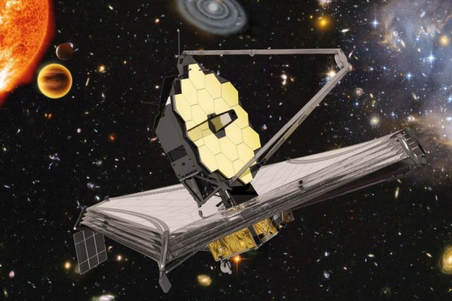 Artist's impression of the James Webb space telescope in space. Credit: ESA, NASA, S. Beckwith (STScI), HUDF Team, Northrop Grumman Aerospace Systems, ATG medialab