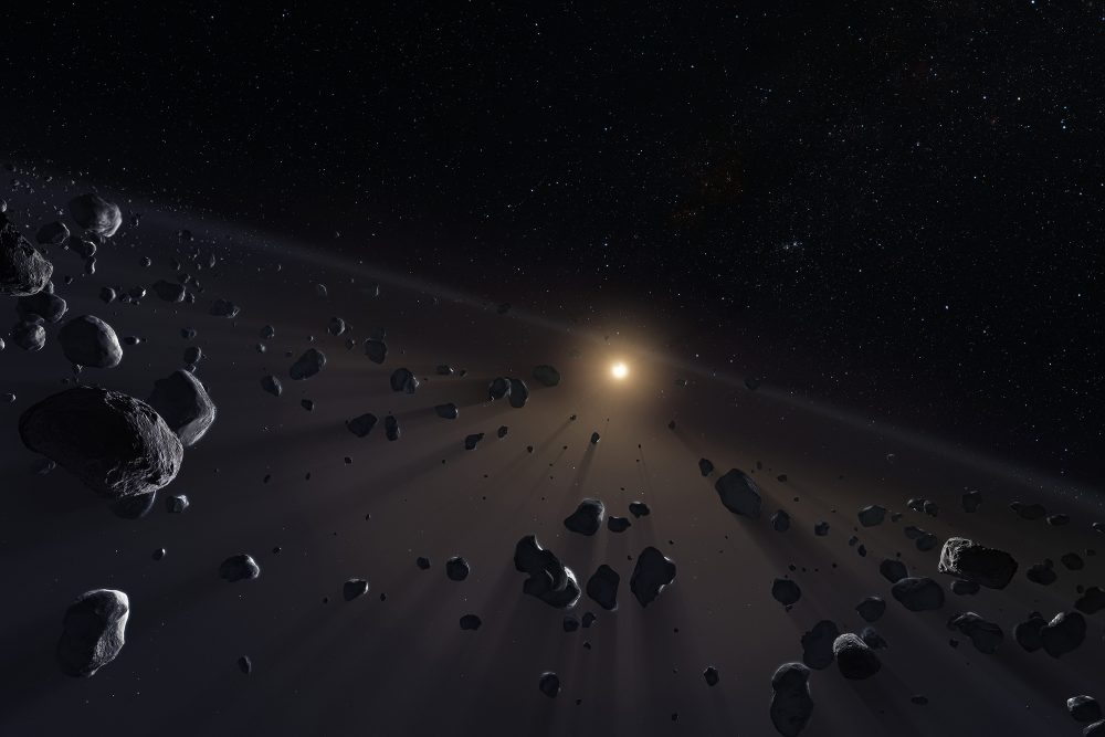 Artist's impression of the Kuiper Belt beyond Neptune. Astronomers have discovered 461 new objects in the Solar System. Credit: ESO/M. Kornmesser