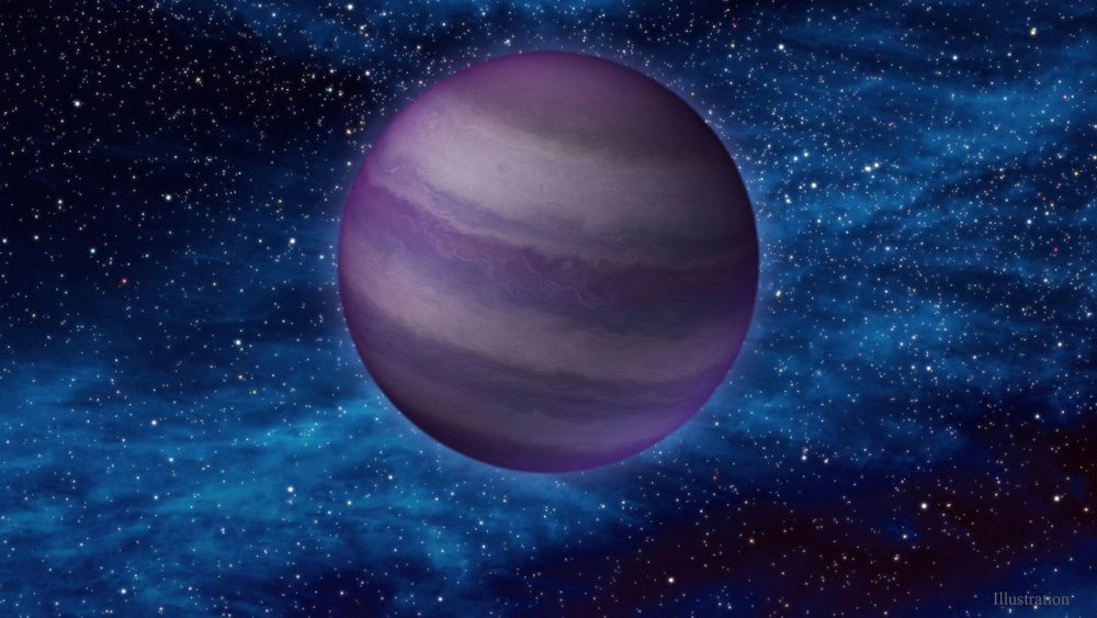 Artist's impression of a cold, dim brown dwarf in space. Credit: IPAC/Caltech