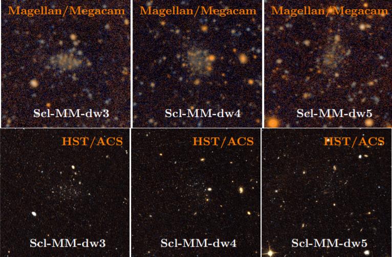 Images of the open dwarf galaxies taken by the Magellanic Telescope and Hubble. Credit: Burçin Mutlu-Pakdil et al. / arXiv: 2108.09312v1