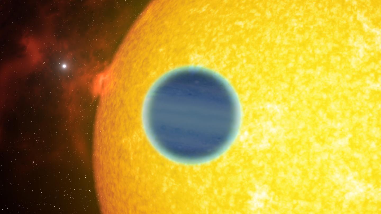 Artist's impression of WASP-127b next to its star. Credit: NASA