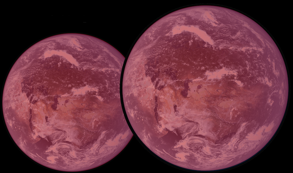 Conceptual images of the Super-Earths discovered by astronomers. Credit: Astrobiology Center