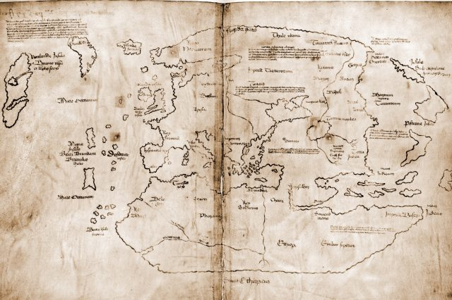 Scientists found that the famous Vinland Map is actually a fake. Credit: Wikimedia Commons