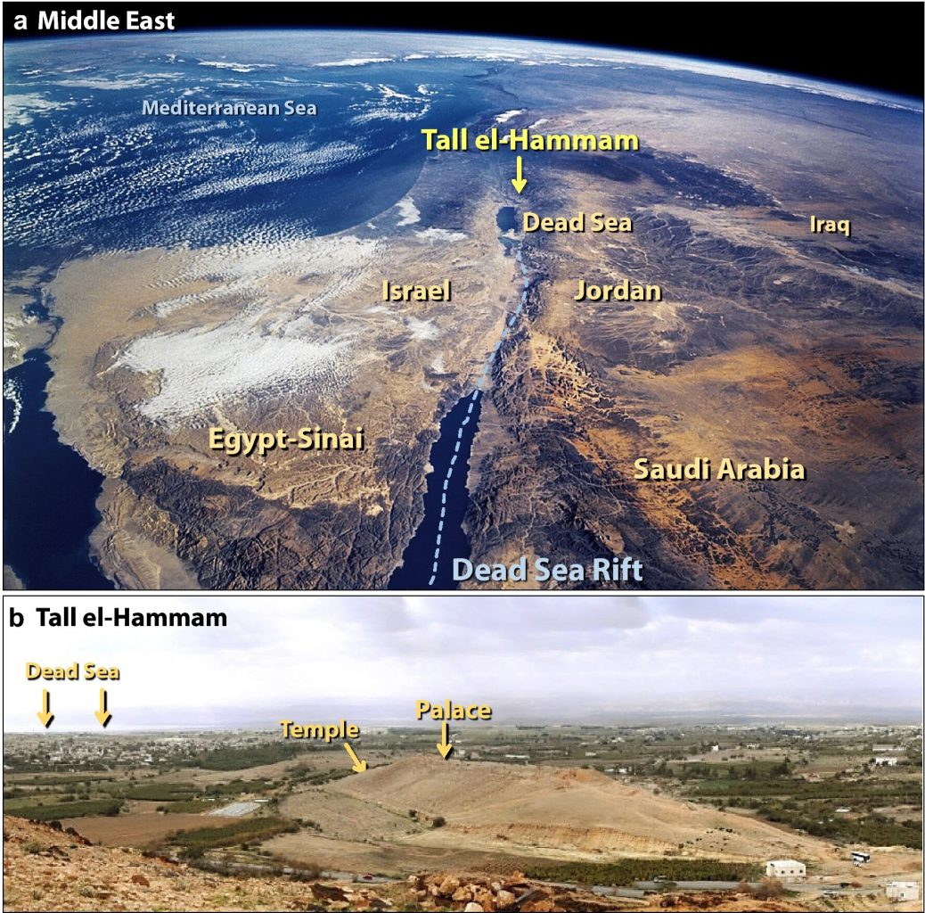 Location of the Tell el-Hammam archaeological site. Credit: Ted Bunch et al. / Scientific Reports, 2021