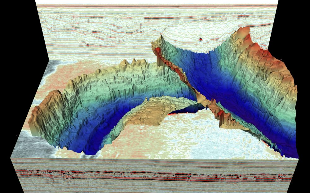Scientists discovered unbelievably large Ice Age landscapes beneath the North Sea. Credit: British Antarctic Survey