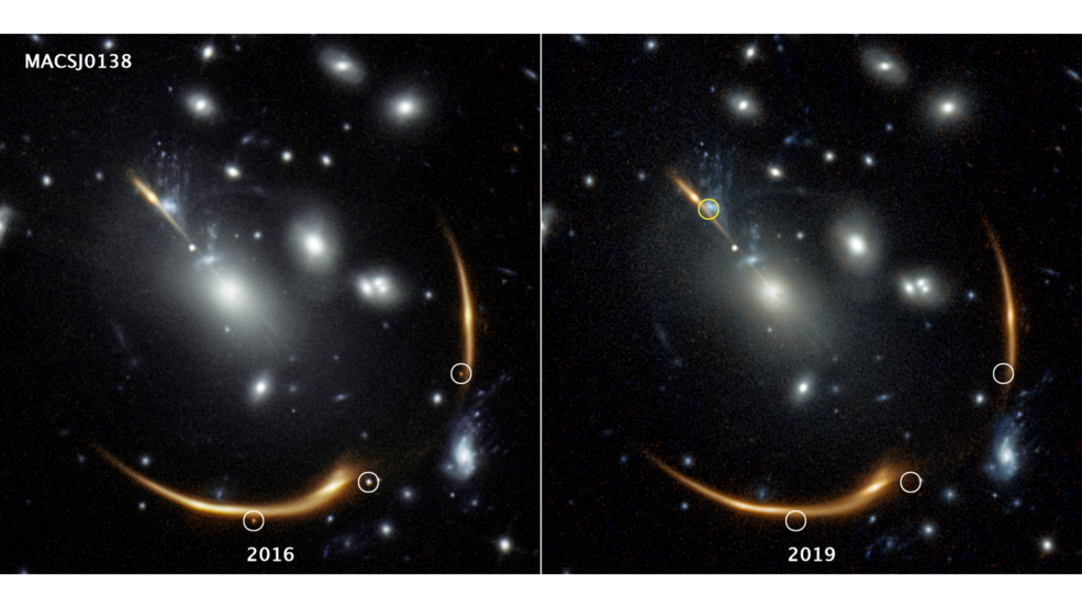 Three views of Supernova Requiem from the past several years. Credit: Joseph DePasquale (STScI)
