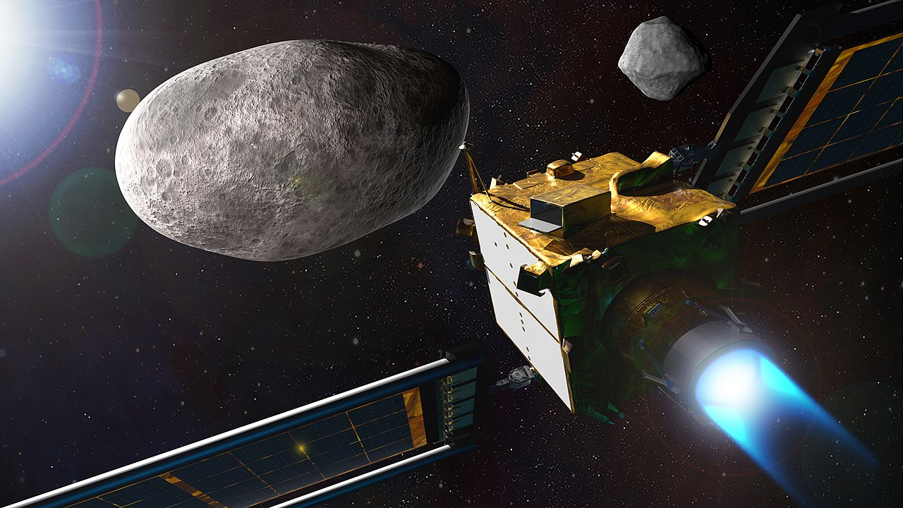 Artist's impression of the DART mission spacecraft on its way to the asteroid. Credit: NASA