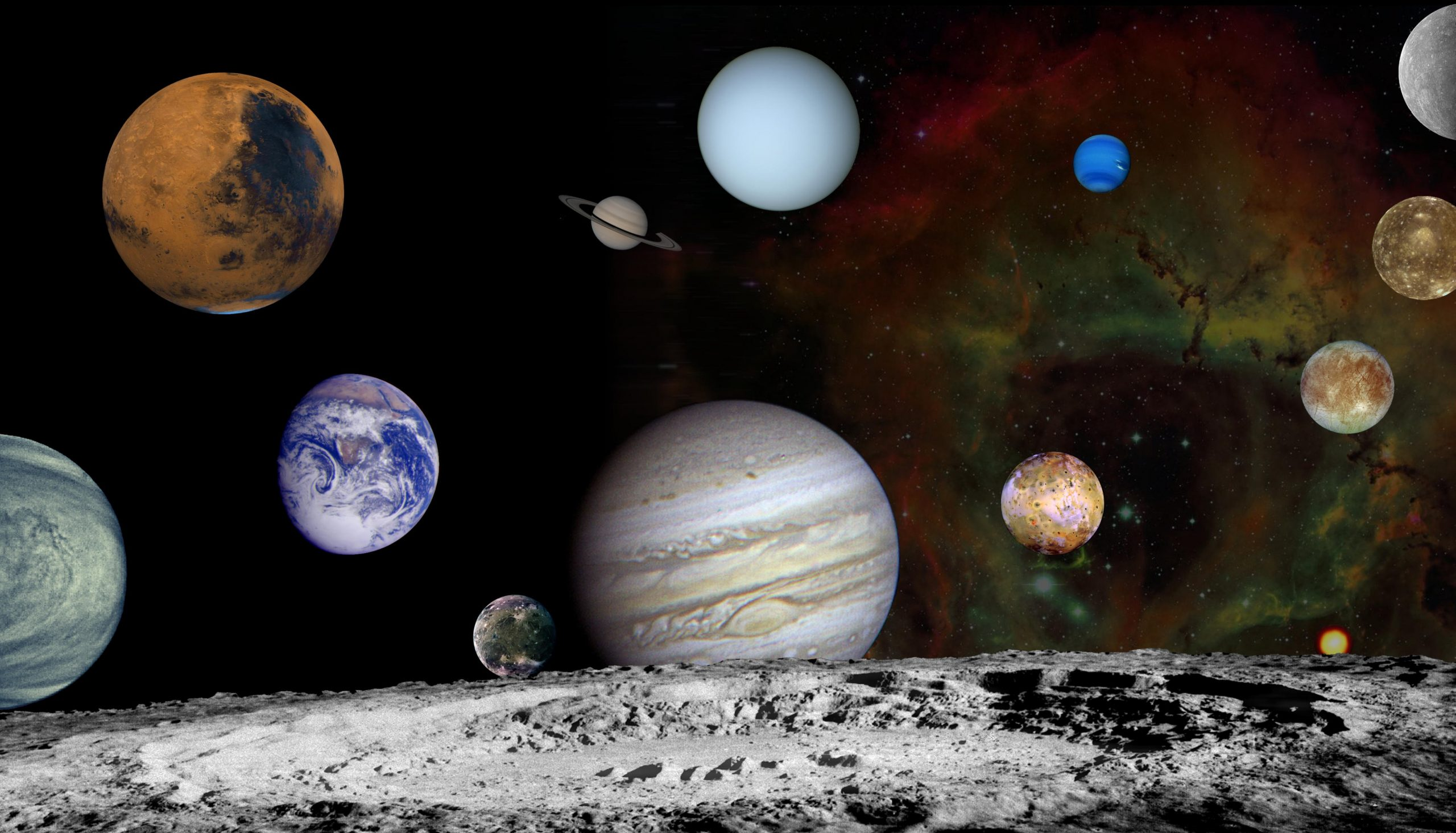 Astronomers believe that the early Solar System was divided by a mysterious gap. Credit: NASA