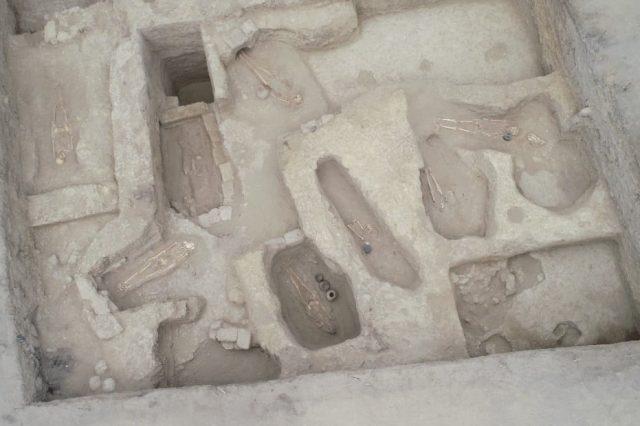 Aerial shot of the Moche and Wari culture burials in Peru. Credit: Museo Tumbas Reales de Sipan
