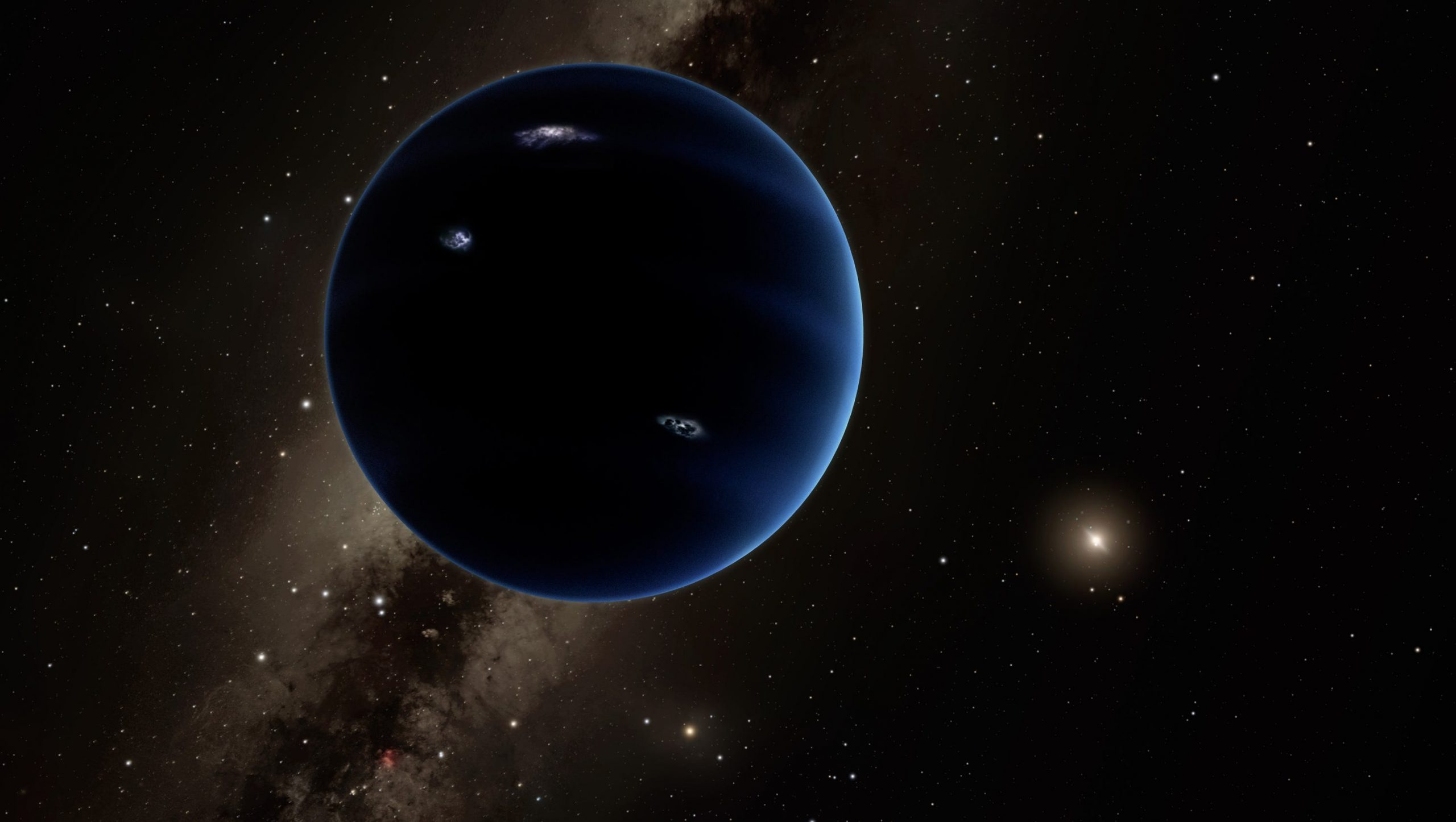 New computer simulations have suggested the existence of a Mars-sized planet behind Neptune. Credit: NASA