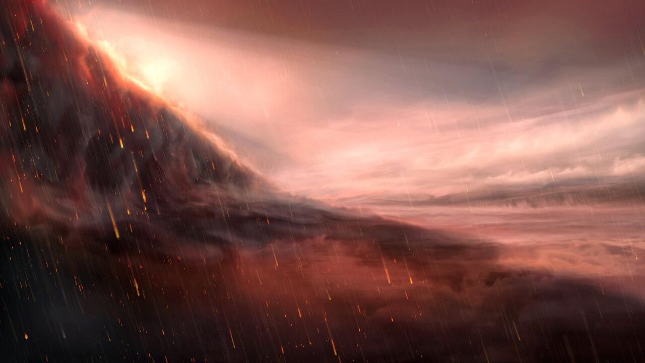 Iron Rains on exoplanet WASP-76b. Credit: M. Kornmesser / ESO