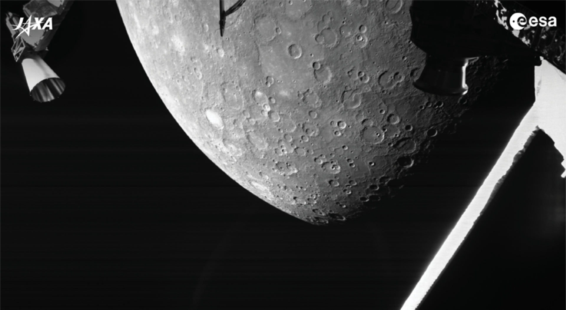 Scientists have released a video with BepiColombo's audio recording of the Sounds of Mercury. Credit: ESA