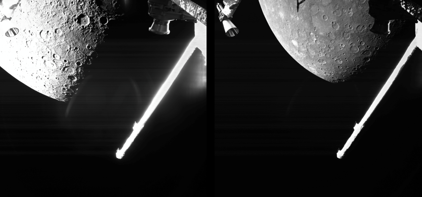 ESA's BepiColombo spacecraft reached its main scientific target and sent some incredible rare Mercury images. Credit: ESA