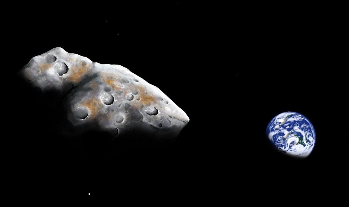 Artist's impression of one of the near-Earth asteroids - 1986 DA. Credit: Addy Graham / University of Arizona