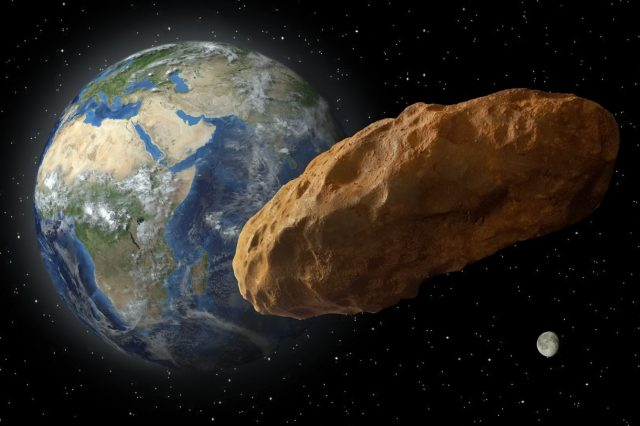 8 Near-Earth Asteroids will pass near Earth in the next two months with asteroid 2021 SM3 first on Friday. Credit: Ron Miller
