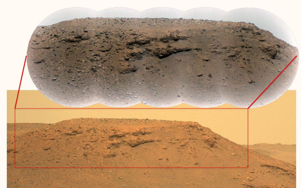 Image of an escarpment along the delta of the Jezero Crater taken by the Mars rover. Credit: NASA/JPL-Caltech/LANL/CNES/CNRS/ASU/MSSS